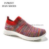 El más nuevo deporte de las mujeres calza el diseño respirable superior de Flyknit de los zapatos corrientes