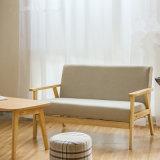 거실 새로운 디자인 직물 작풍 3 Seaters 나무로 되는 소파