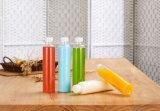 La bebida vacía del jugo del animal doméstico de la cubierta segura embotella el plástico para la venta