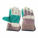 Coton double arrière Palm croûte de cuir de vache Les gants de travail industriels