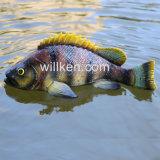 Прелестная полимера рыб и скульптура воды декор с плавающей запятой для продажи