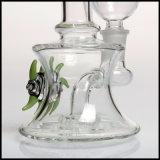 8 duim van Showerhead Perc 14.4mm Gezamenlijke Groene Waterpijp van de Wasfles van het Roken van sigaretten van het Glas van de Mond