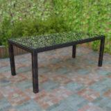 Mobilia stabilita del giardino delle poltrone della mobilia di vimini che pranza gli insiemi Tg-060