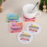 Tabela de papelão bebida Mat Coasters absorvente para promoção (YH-DC054)