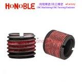 Pieza inserta de E-Zlok con el bloqueo interno y externo de la cuerda de rosca para los metales