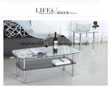 Tavolino da salotto acrilico a forma di U di disegno moderno