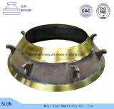 Pièces normales concaves de Symons 2 d'acier de manganèse ' et de manteau de cône de broyeur