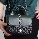 Bolsa elegante de couro real de venda quente Emg5160 das senhoras de saco do ombro do projeto do saco de mão das mulheres