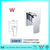 Salle de bains d'homologation de filigrane dans le mélangeur en laiton de douche de mur (CG615)