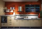 現代緑のラッカーMDFの木製の食器棚