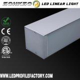 El LED sujeta con cinta adhesiva el canal ligero, luz de tira del LED con el difusor, canal de cinta del LED