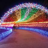 luz da corda do Natal da luz da corda do diodo emissor de luz da alta tensão 10m 100 com conetor da cauda