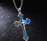 De dwars Mensen van het Roestvrij staal van Jesus Piece Pendant van het Kruisbeeld van Inri van de Halsband ketenen de Katholieke Giften van Kerstmis van Juwelen