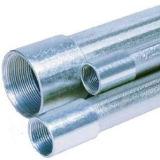 Tubi d'acciaio galvanizzati BS1387 con l'estremità filettata e le protezioni