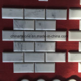 Mosaico de mármol blanco de China Bianco Carrara para la pared