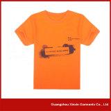 Maglietta rotonda bianca del collo stampata abitudine per il regalo promozionale (R196)