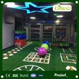 Gimnasio verde utilizado en el interior de césped artificial para gimnasio