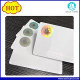 Cartões plásticos da identificação com a folha de prova anticontrafacção da folha do laser