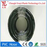 Tresse noire en PVC renforcé de gaz en plastique flexible à air