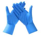 De plástico mayorista de examen de grado alimentario guantes desechables de látex sin polvo