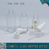 50ml 30ml 20ml Garrafa com gotas de vidro transparente para garrafa de plástico para crianças