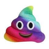 Het zachte Kleurrijke Hoofdkussen van Emoji van het Achterschip van de Stof van de Polyester