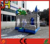 Combo gonflable de château de dragon, Chambre pleine d'entrain de dragon gonflable, videur gonflable de Chambre de clown