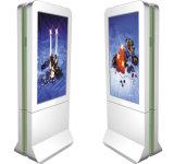 65 Signage extérieur HD d'affichage à cristaux liquides Digitals de pouce annonçant l'étalage debout de kiosque