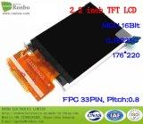 "2.2 "" Qcif 176*220 MCU 16bit 33pin 산업 TFT LCD 위원회"