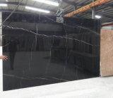 Black Nero Marquina Plaques en marbre pour carrelage / toit / carreaux de vanité / mur
