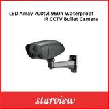 A disposição 700tvl 960h do diodo emissor de luz Waterproof a câmera da bala do CCTV do IR