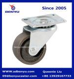 Kleine Schrauben-Gusseisen-Fußrolle mit Bremse