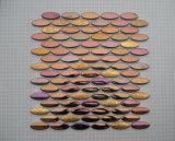 Porcelánico pulido azulejo del metal Mosaico de Fabricación