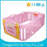 携帯用安いホーム赤ん坊のPalyのゲームのプラスチック安全HDPEの塀のゲームの塀の赤ん坊のベビーサークルが付いている屋内赤ん坊のベビーサークル