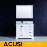 Vanité simple américaine de salle de bains en bois solide de type de modèle neuf (ACS1-L01)