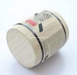 Logo fait sur commande petit baril en bois normal de grain de café