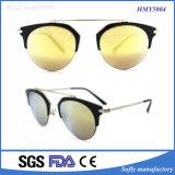2016 occhiali da sole di marche di modo con le tempie del metallo