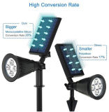 Justierbares wasserdichtes LED-Solargarten-Pfad-Licht