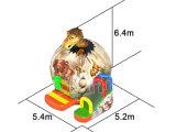 공룡 디자인 아이들을%s 팽창식 도약자 활주 성곽