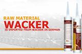 Une puate d'étanchéité acide constitutive de silicones pour des portes d'alliage d'aluminium