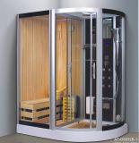 Sauna combiné par vapeur de fonction de jumeaux avec la douche (AT-D8852B-1)