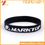 Il solido su ordinazione poco costoso imprime il braccialetto del silicone/Wristband (YB-AB-007)