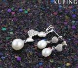 Il cuore del Rhodium di 64077 modi ha modellato i monili della perla impostati sulla promozione di vendite