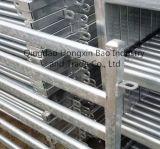 Cerca temporal de la barrera del control de muchedumbre de los pies del plano de acero