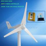 outre du générateur de vent du réseau 300W 12V 24V avec le contrôleur et l'inverseur de MPPT