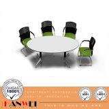 Réunion de tables rondes ajustable en métal à panneau supérieur, table de conférence