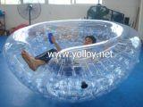 Agua inflable de los Cocos que flota la media bola para la playa