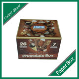 Роскошный гофрированный картон платы шоколад упаковке