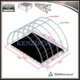 Modèle extérieur en aluminium d'étape de concert de plate-forme en bois avec le toit d'armature