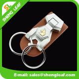 A corrente chave de couro de Oxford acorrenta o costume do Special do anel de chaves de Keychain